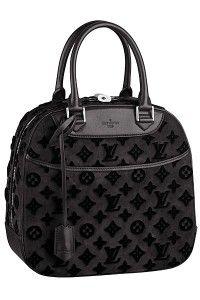 Louis Vuitton Gris Suede Tuffetage Deauville Cube Bag
