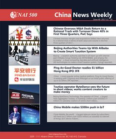 China News Weekly 40 -Chinese Overseas M&A Deals Return to a Rational Track with Turnover Down in First Three Quarters, PwC Says - NAI 500 Good Doctor, Third, Track, Chinese, Technology, Sayings, News, Tecnologia, Tech
