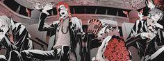 Shirow Miwa, Dog Artist, Guns And Roses, Comic Page, Manga Illustration, Manga Games, Tokyo Ghoul, Comics, Dogs