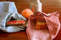 DIY Reusable Lunch Set for School. It's back-to-school time!  Instead of oodles of plastic bags and disposable accoutrements, how about a cute, reusable lunch sack, sandwich bag, and a few sources for thermoses and silverware?  I made mine out of an old pair of jeans so there was minimal sewing involved.  In fact, the whole project is so simple you might be tempted to have your kids make their own lunch sets!