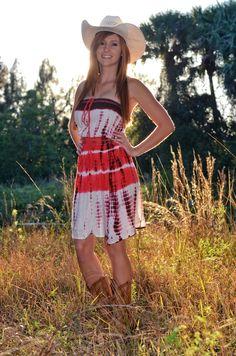 Sporty Girl Apparel - Tube top coral tie dye dress, $35.99 (http://www.sportygirlapparel.com/tube-top-coral-tie-dye-dress/)