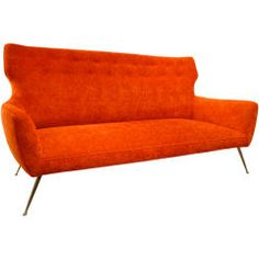 Red couch for my bedroom-why not?
