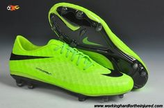 New (Fluorescent Green/Black) Phantom FG Nike Hypervenom 2014 Soccer Cleats