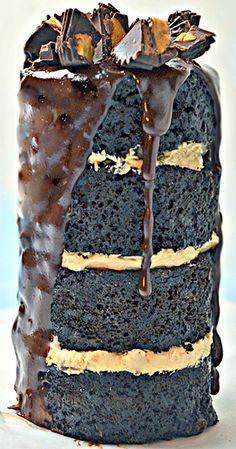 Dark Chocolate Peanut Butter Can Cake