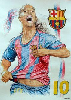 Ronaldinho by ~machoart on deviantART. wwooowww tremendo fanart. Nadie nunca tendra tu magia Dinho