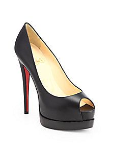 Christian Louboutin - Palais Royal Leather Platform Pumps