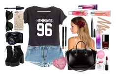 """Hemmings Outfit"" by erch on Polyvore featuring Levi's, Lelet NY, Givenchy, Casetify, Ray-Ban, Max Factor, MAC Cosmetics, Victoria's Secret, Eos and Chanel"