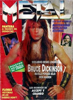 RaRe Import Vintage Metal Magazine IRON MAIDEN BRUCE DICKINSON on Cover AC DC