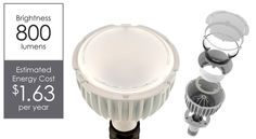 Rambus BR30 75W Equivalent LED Lamp w/ mechanically tuneable Colour Temperature