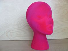 Vintage Pink Velvet Mannequin Display Head by Thequeenofre on Etsy, $50.00