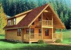 We can build custom onsite cabins to your plans- here's 1 sample out of hundreds possible, dream away!