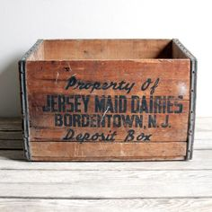 stamp/paint on wooden box crate