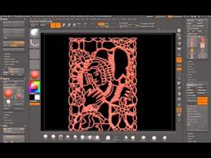 A little Nosferatu design in a lace panel created for an Insert Mesh Brush. Spotlight texture applied to plane, then masked by intensity. Panel Loops created...
