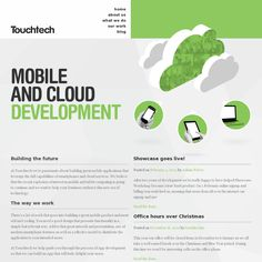 I like how the clouds go over the sticky menu and everything else goes under: http://touchtech.co.nz