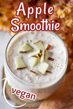 Apple Smoothie Recipes, Apple Smoothies, Apple Recipes, Sweet Breakfast, Breakfast Recipes, Breakfast Ideas, Baked Brussel Sprouts, Vegetarian Recipes, Healthy Recipes