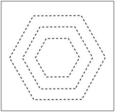 1000 images about hexagon on pinterest hexagons for Hexagon templates for quilting free