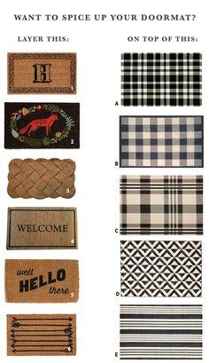 Layered Doormat Options | Chris Loves Julia