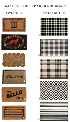 Layered Doormat Options | Chris Loves Julia