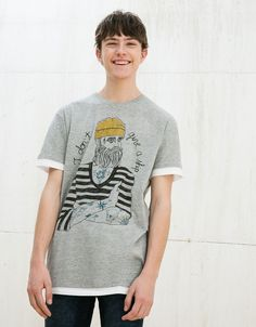 BEARD/SAILOR/STORMS top. Discover this and many more items in Bershka with new products every week
