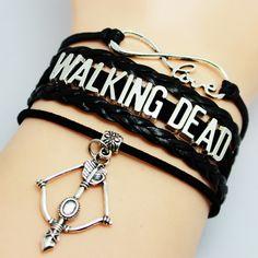 Drop Shipping Black Leather Braided Velvet Infinity Love Walking Dead Bracelet- Bow Charm- Custom Friendship Gift♦️ SMS - F A S H I O N 💢👉🏿 http://www.sms.hr/products/drop-shipping-black-leather-braided-velvet-infinity-love-walking-dead-bracelet-bow-charm-custom-friendship-gift/ US $0.99