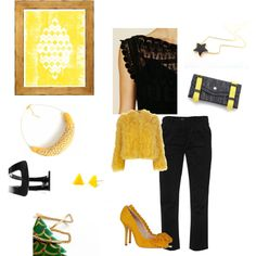 """Yellow Dark night"" by efzin on Polyvore"