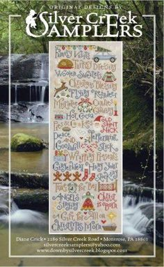 """My Christmas List is the title of this cross stitch pattern from Silver Creek Samplers"" #halloween #crossstitch #crafts"