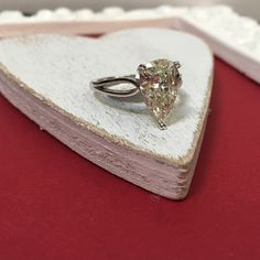 Just one more day till Valentine's Day! How about this beautiful 2.71 carat pear cut diamond ring?!
