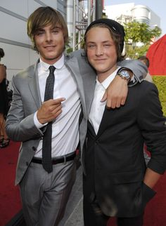 Pin for Later: Get to Know Zac Efron's Superhot (and Supersmart) Younger Brother Zac Has Brought Him to Plenty of Red Carpet Events Here they are at the ESPY Awards in 2008.