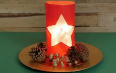 This Gorgeous DIY Holiday Lamp Is Made from the Most SURPRISING Household Item