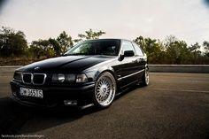 Black BMW e36 compact on OEM BMW Styling 5 (BBS RC) wheels