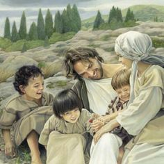Jesus and children...how beautiful is this.