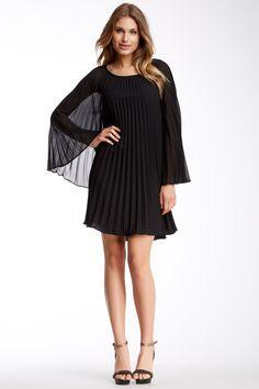 Sunburst Pleated Dress - Nicole Miller