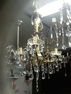 3 lights italian chandelier