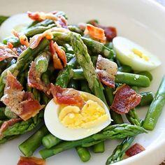 Asparagus Egg and Bacon Salad with Dijon Vinaigrette – EASY http://www.skinnytaste.com/…/asparagus-egg-and-bacon-salad-…