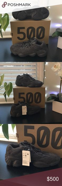 88541fde785bf Yeezy 500  Utility Black  Kanye West and adidas launched the Yeezy 500   Utility Black  in July The retro-inspired silhouette counterbalances its  bulky form ...