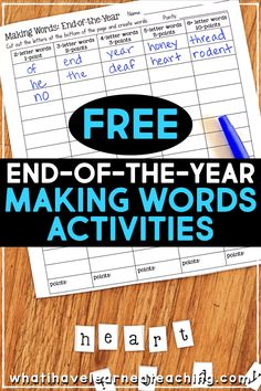 These end-of-the-year activities are perfect for and grades and keeps students busy during those last few days of school! Give students fun activities that fill their time and keep the teacher sane while packing up the room! Coping Skills Activities, Book Activities, B Letter Words, Special Education Classroom, Biology Classroom, Third Grade Math, Fourth Grade, End Of School Year, Memory Books