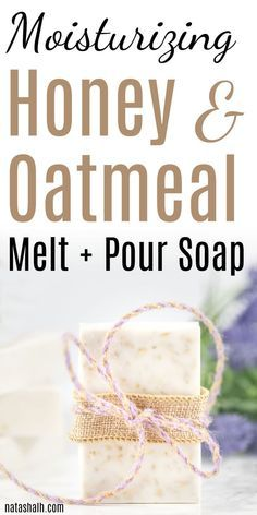 This moisturizing oatmeal honey soap for dry skin is perfect for dry, sensative, or flaky skin. This easy soap recipe makes a great handmade gift idea, too! The Melting Pot, Soap Making Recipes, Homemade Soap Recipes, Diy Gifts Cheap, Soap Melt And Pour, Oatmeal Soap, Homemade Oatmeal, Honey Soap, Essential Oils For Skin