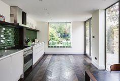malachite green tile backsplash