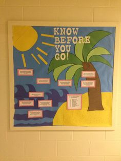 My March board with fun facts about spring break! - My March board with fun facts about spring break! My March boa - Spring Break Quotes, Dorm Themes, College Bulletin Boards, Spring Break Party, Good Quotes For Instagram, Spring Break Destinations, Classroom Crafts, Fun Facts