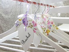 Wedding hangers Personalized hangers Bride hanger Set by PracticCo