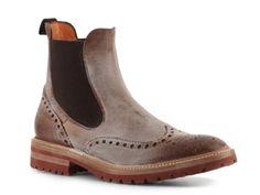 Santoni Men's Vintage Leather Wingtip Boot