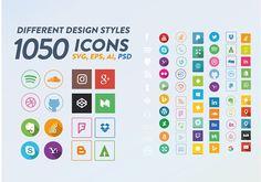 Social Media Icons by RobertvanHaaren on @creativemarket