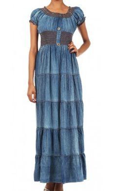 Light Denim Maxi Dress - Apostolic Clothing