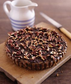 A rich, nutty, sweet tart recipe full of caramel, pecans and dark chocolate.