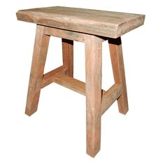 The Shorty Hardwood Stool by RAW - handcrafted on site from reclaimed hardwood