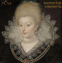 Catherine Henriette de Balzac d'Entragues, Marquise puis 1ère. Duchesse de Verneuil, 1579-1633.