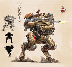 light mecha----Valkyria MK2, Weiyi Qin on ArtStation at https://www.artstation.com/artwork/26wbJ