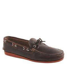 J.Crew | leather canoe shoes #JCrew #canoe #shoes