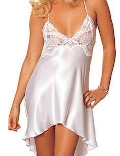 Νυχτικό+Πυτζάμες+Γυναίκα-Sexy+Δαντέλα+/+Spandex+Άσπρο+/+Ροζ+/+Μωβ+/+Μπλε+/+Κόκκινο+–+EUR+€+6.22