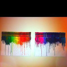 Crayon drip art...family project!